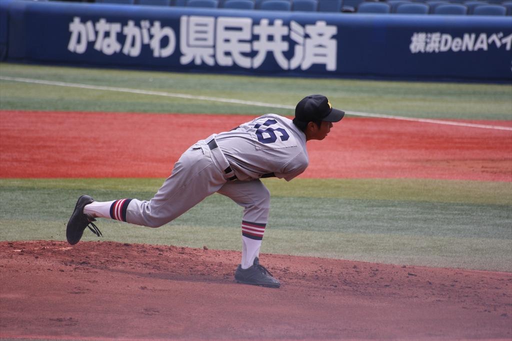 慶応先発高橋の投球フォーム_5