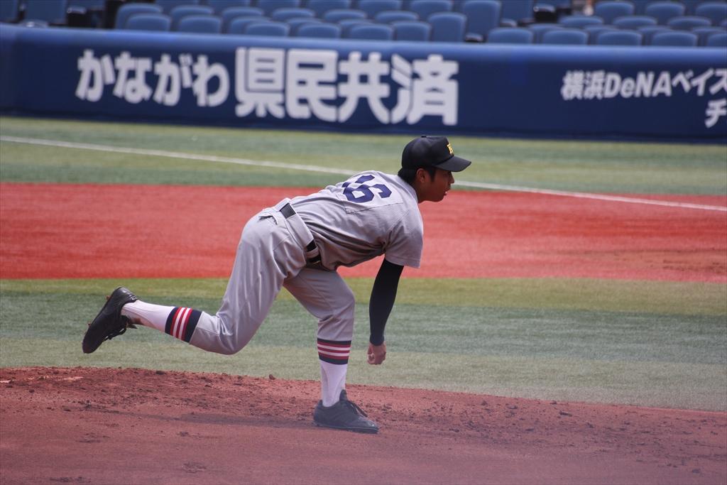 慶応先発高橋の投球フォーム_6