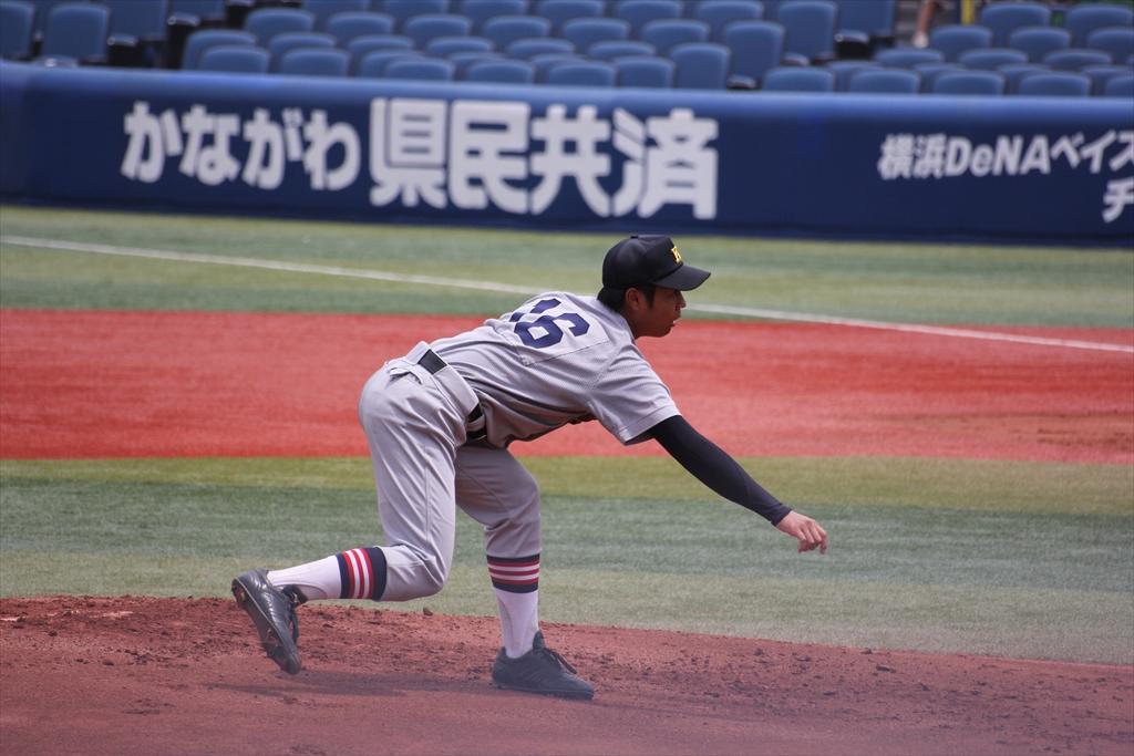 慶応先発高橋の投球フォーム_7