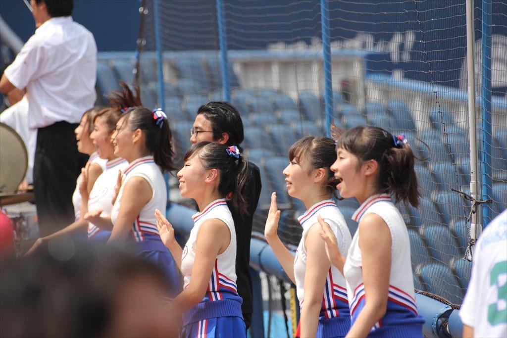 慶應義塾のチアガールたち_5