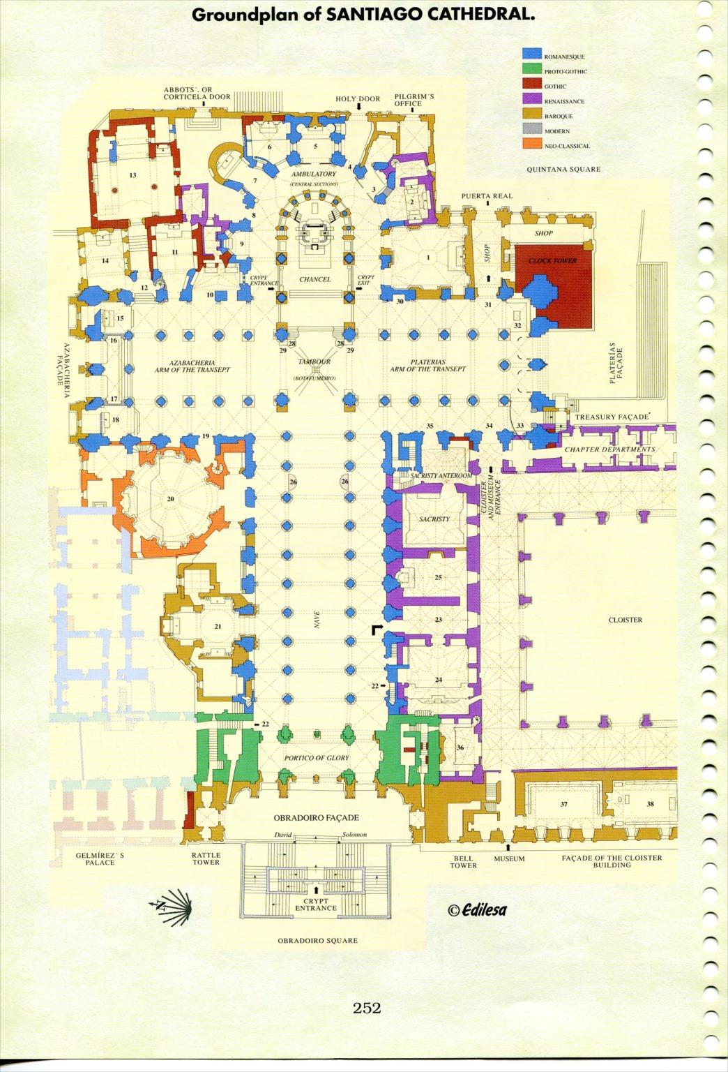 大聖堂平面図