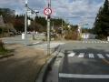 141122記念碑台前交差点を左折