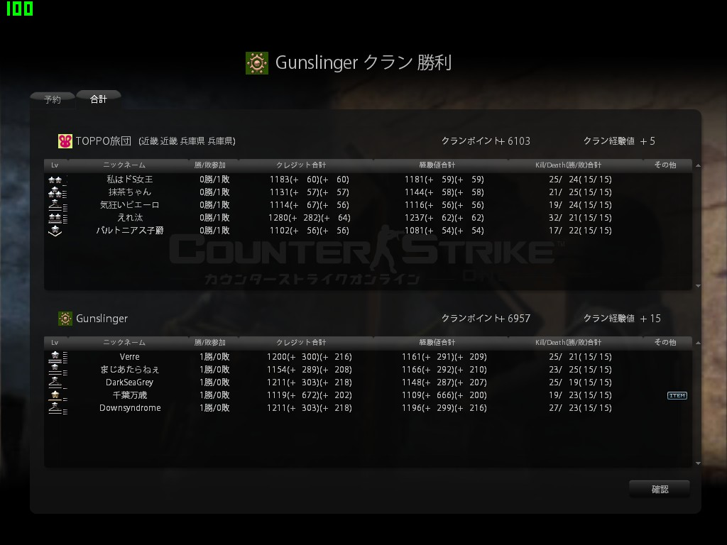 vs Gunslinger