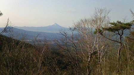 雲海より富士山