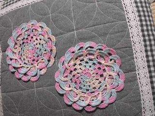 バラのコースター編み直し