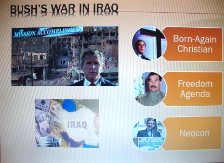 ppt-Bushs war in Iraq
