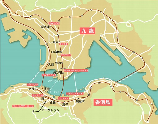 香港中心エリアマップ