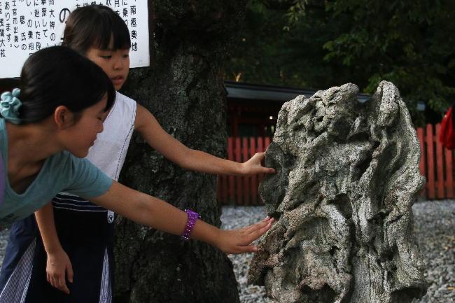 富士宮浅間神社-14南極の石