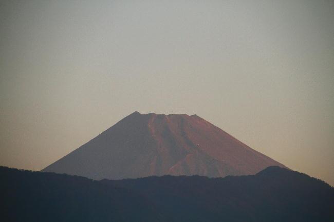 20日 5-40 今朝の富士山
