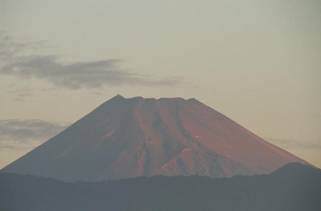 3日 5-52 今朝の富士山-5