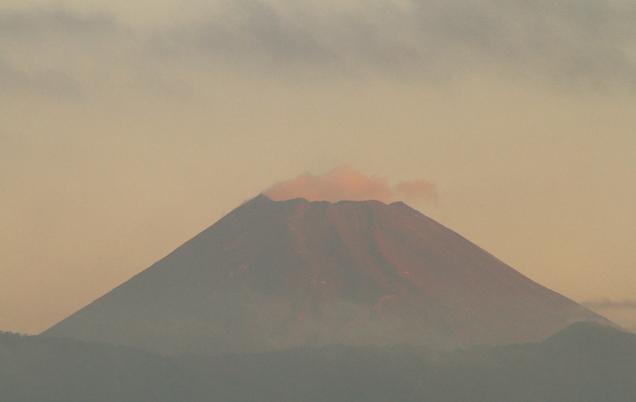 10日 5ー47 今朝の富士山