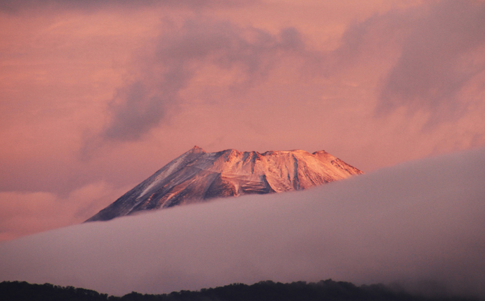 24日 5ー55 今朝の富士山-1