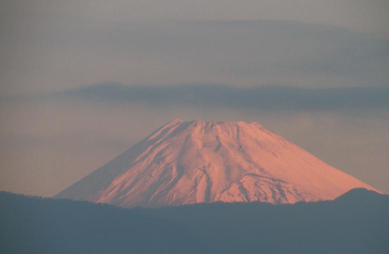 8日 6ー14 今朝の富士山