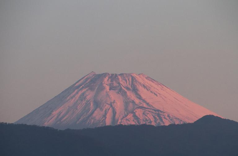 9日 6ー17 今朝の富士山1