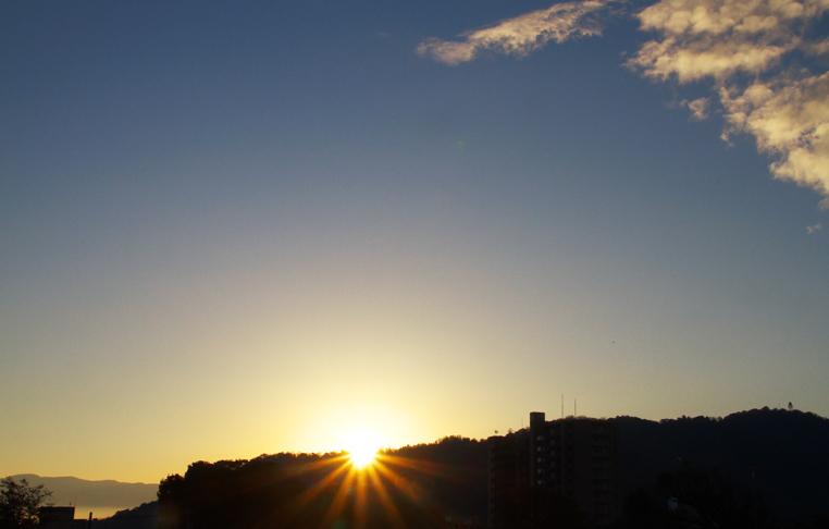 16日 6ー48 今朝の富士山