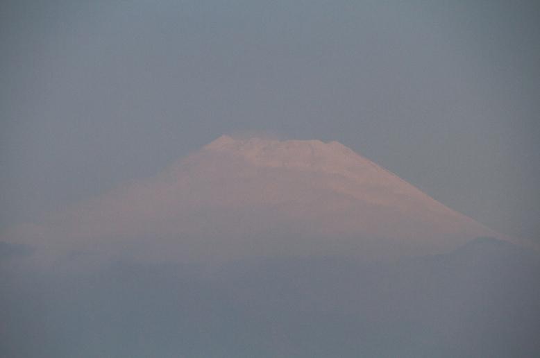 18日 7ー40 今朝の富士山-1