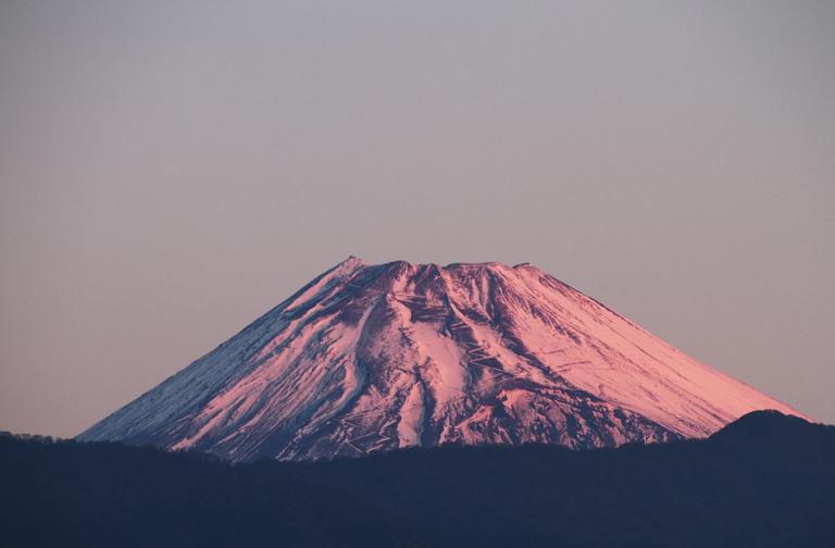 23日 6ー24 今朝の富士山