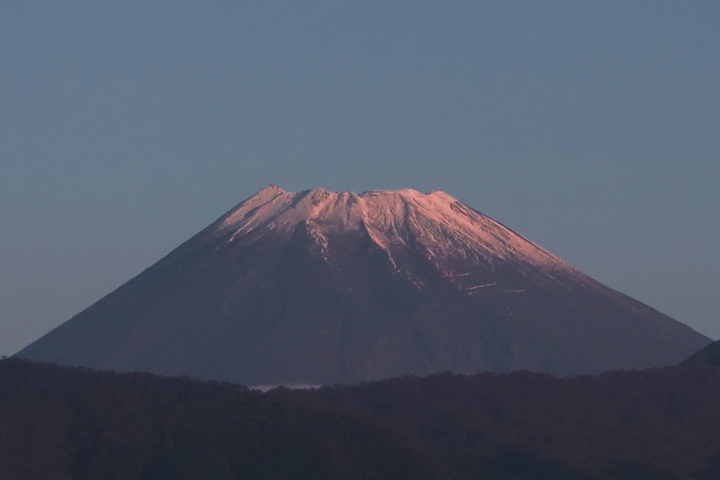 4日 6-40 今朝の富士山