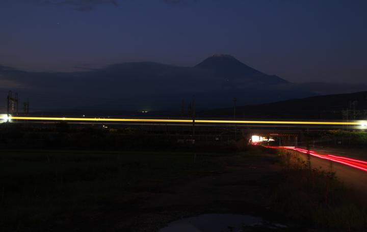 富士山と新幹線-548-3