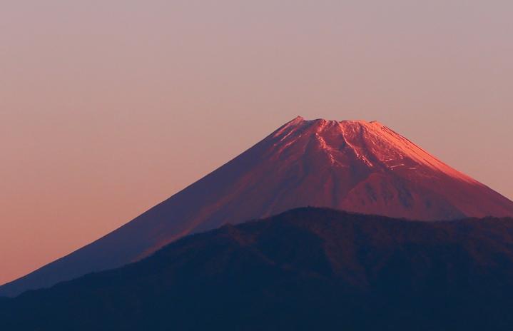 15日 6-19 今朝の富士山-1