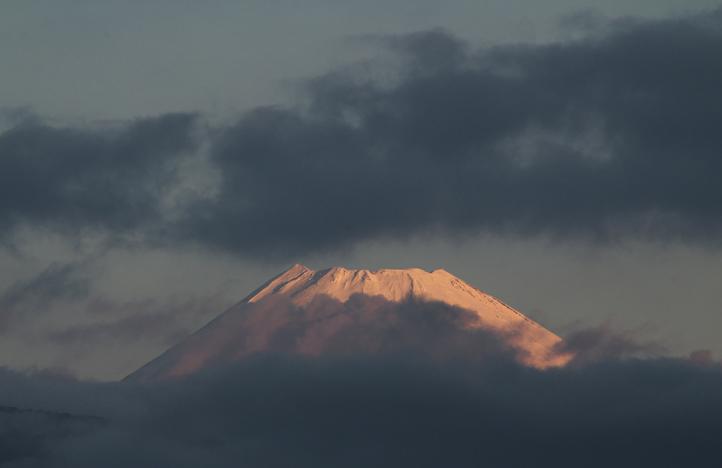 11月30 6-40今朝の富士山-1