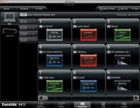 H9 Control OSX app Preset List page