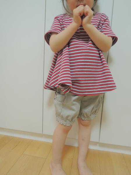 AラインTシャツ_着画2