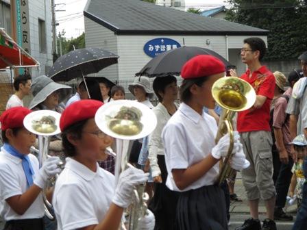 茂原七夕祭り・西小・鼓笛隊3・2013.7.27