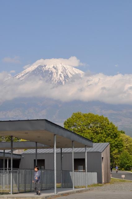 富士山を背負って
