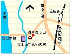 立田のハス マップ