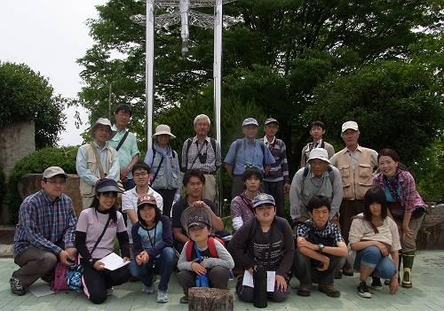 6月クモ観察会・小幡緑地公園にて-s