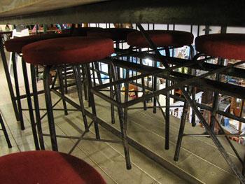 ダイニングテーブル 古木天板 鉄脚 錆脚