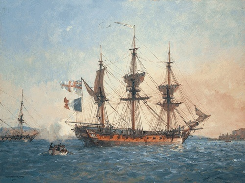 HMS Surprise Captured French Ship