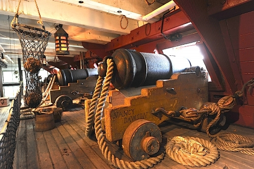 HMS Surprise Gun Deck View 1
