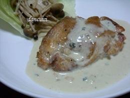 チキンソテースティルトンソース (3)
