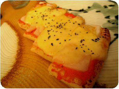 油揚げメンタイチーズ焼