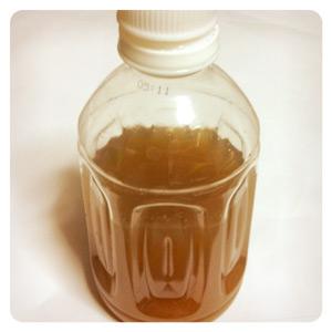 漢方薬完成・ペットボトルで保管