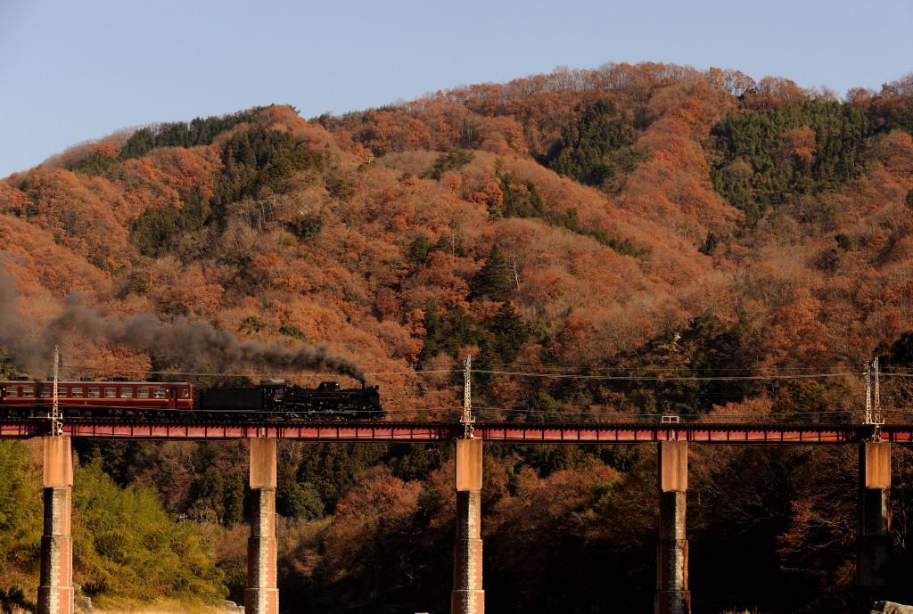 秩父鉄道 C58363 荒川橋梁