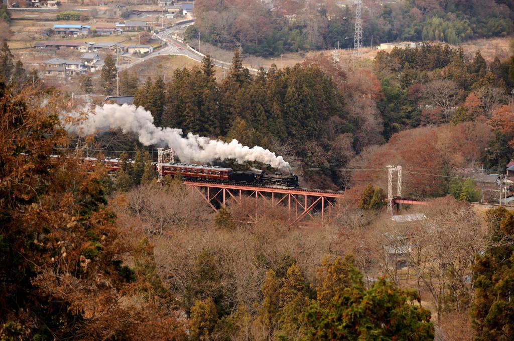 秩父鉄道 C58363 浦山川橋梁小俯瞰