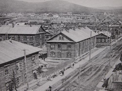 当時の尼港(ニコラエフスク資料館所蔵)
