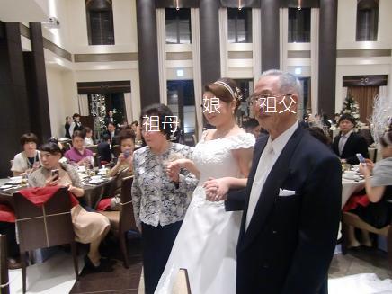 結婚式の中座エスコート