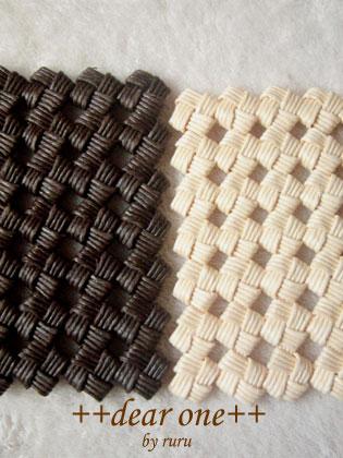 石畳編みのコースター130915_6