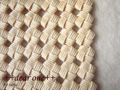 石畳編みのコースター130915_7