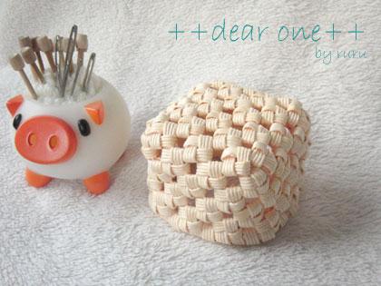 石畳編みミニカゴ131021_4