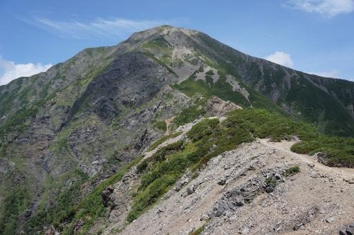 096下山路から聖岳を見返す