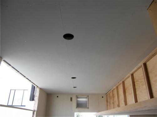 旬家 やまびと天井・壁貼りはじめました