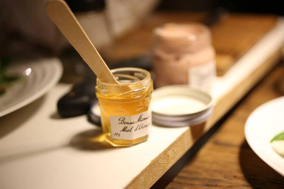 レバーパテと蜂蜜