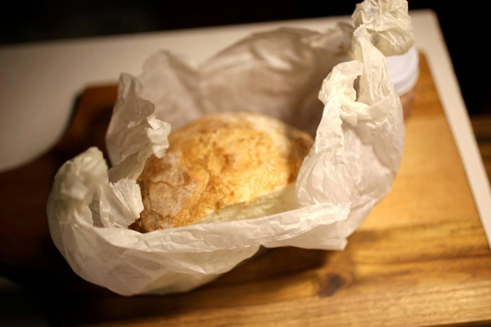 ジェイミー先生式に温めたパン
