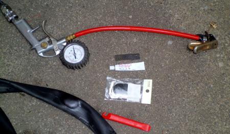 自転車パンク修理済1
