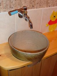 手洗いボール(益子焼の小形水盤)